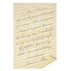Custom Special Message Quilt, $245, by Jennifer Kesler