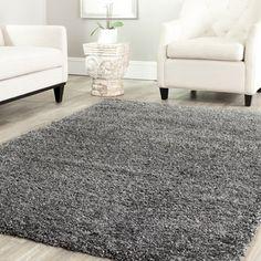 Safavieh Cozy Solid Dark Grey Shag Rug | Overstock.com