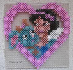 Snow White hama beads by Les Loisirs de Pat
