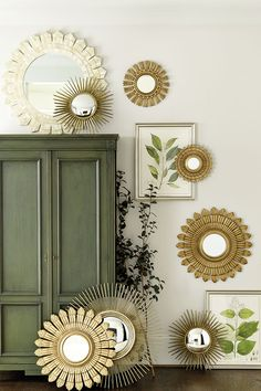 Our new Spring collection: sunburst mirrors