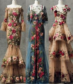 New embroidery fashion catwalk Ideas Beautiful Frocks, Beautiful Dresses, Nice Dresses, Formal Dresses, Couture Embroidery, Embroidery Fashion, Couture Mode, Couture Fashion, Mode Vintage