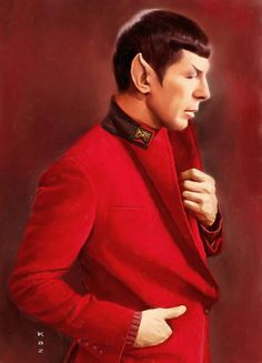 Vulcan (Spock) I wouldn't have thought it possible for Spock to be hotter than he is in blue---I see I was wrong. The red is hotter.