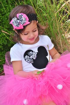 Minnie Mouse  ZEBRA Shirt by PigtailsandPearls on Etsy, $21.00