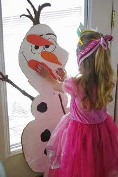 Pin the nose on olaf