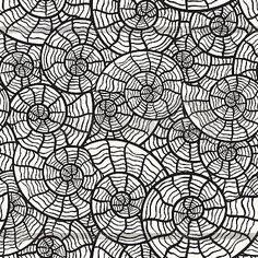 Seamless monochrome pattern with sea shells (Colouring Page For Kids?)