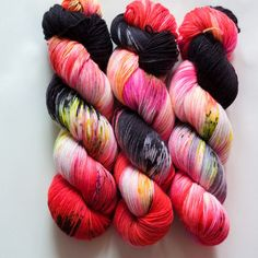 Black Hare Hand Dyed Yarn Super Soft Sock  80 Sw by QingFiber