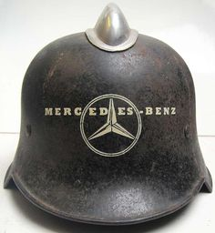 Pretty much every German factory had security guards & firemen to help protect their plant and to free up resources for the armed forces. This stencil can be used for Mercedes-Benz factory guards or firemen. The picture opposite shows it being used on a fireman's helmet. Buy a helmet, apply the stencil and keep it in the back seat of your Mercedes - very cool!