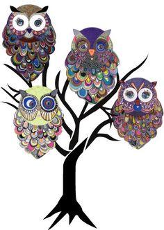Elegant Owls by Ann Sofie Holm