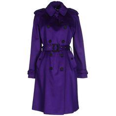Blumarine Coat ($740) ❤ liked on Polyvore featuring outerwear, coats, mauve, blumarine, woolen trench coat, blumarine coat, long sleeve coat and purple trench coat