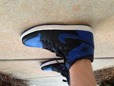 AJ1 Blue x Black