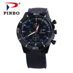 2017 New PINBO Brand Men Sports Quartz Watch Men Silicone Strap Military  Wrist Watches Relogio Masculino 8761921b9e