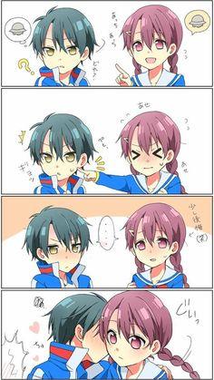 Anime Chibi, Manga Anime, Prince Of Tennis Anime, Okuda, Sakura And Sasuke, Kawaii Art, Romance, Doujinshi, Anime Love