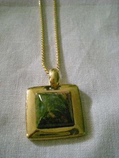 vintage+Signed+RMN++Unakite+Cabochon+pendant+and+rope+necklace