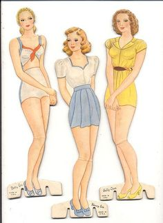 Fashion Link: Templates and paper dolls Paper Doll Template, Paper Dolls Printable, Paper Toys, Paper Crafts, Fun Crafts, Diy Vintage, Vintage Paper Dolls, Doll Crafts, Sewing Crafts