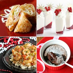 2013_02_12  • Lighter Egg Rolls - Food n'Focus.  • Winter White Marshmallow Mousse and Red Currant Verrines - Sprinkle Bakes.  • Shrimp étouffée for Mardi Gras - AllParenting.  • Chocolate Molten Lava Cakes - Glorious Treats.