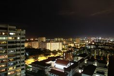 Night view of East Coast of Singapore