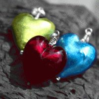 Firefrost Murano glass Bella Pendants, 10 colours and 2 chain lengths and just lovely Glass Earrings, Heart Earrings, Glass Jewelry, Crystal Earrings, Small Heart, Murano Glass, Glass Pendants, Colored Glass, Artisan