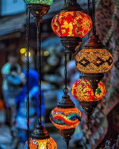Turkish lamps hanging on Saraci Street in old town Sarajevohellip