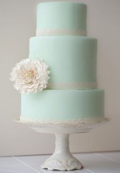 We're seeing the color of mint at weddings this year, on cakes especially. See more Wedding Cake Trends for 2013 at Equally Wed - A gay, lesbian and allied wedding website.