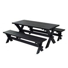 BORD-/BÆNKESÆT NOSTALGI SORT - PLUS - Bord-bænkesæt - Møbler - Havemøbler - Køb det online hos BAUHAUS her