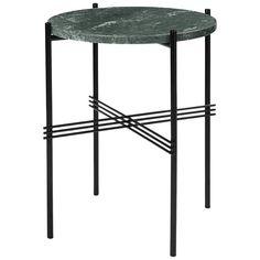 Small Green Marble Top Gamfratesi TS Side Table for Gubi, Denmark 1