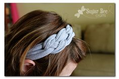 Sugar Bee Crafts: sewing, recipes, crafts, photo tips, and more!: Knotted Headband with tshirt yarn