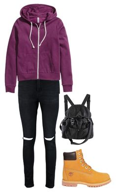 """Untitled #13"" by frid1445 on Polyvore featuring Timberland, Boohoo and H&M"