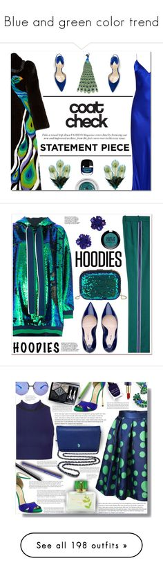 """""""Blue and green color trend"""" by yours-styling-best-friend ❤ liked on Polyvore featuring Blue, GREEN, hot, blueandgreen, colorcomboinspiration, Gucci, Charlotte Tilbury, Paul Andrew, Natasha Zinko and Holiday Lane"""