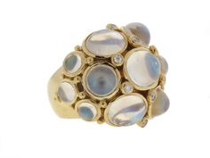 Temple St Clair Moonstone Ring in 18K from Beladora