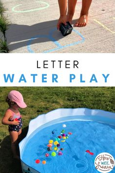 Fill the water table or little swimming pool for your preschooler and break out the toys for this fun letter learning activity. Little ones will learn all about beginning letter sounds through fun (and refreshing) play! Water Play Activities, Summer Preschool Activities, Educational Activities For Preschoolers, Outdoor Activities For Kids, Preschool Literacy, Alphabet Activities, Cool Lettering, Learning Letters, Letter Sounds