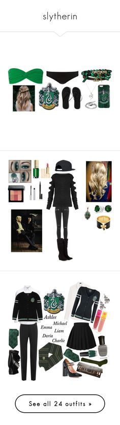 """""""slytherin"""" by kawaiigamers2064 ❤ liked on Polyvore featuring Norma Kamali, Phase Eight, Hot Topic, Blu Bijoux, Abercrombie & Fitch, Paige Denim, Alkemie, Bobbi Brown Cosmetics, Elizabeth Arden and T. LeClerc"""