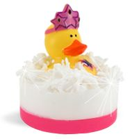 DIY Soap Making Recipe - Princess Party Rubber Duck Soaps. The cutest party favor for a little girls birthday party!