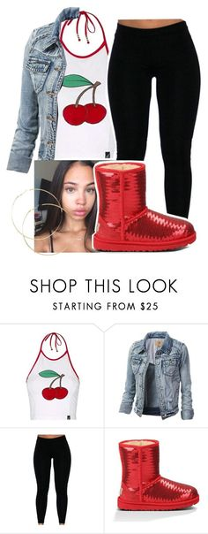 """basic ✨"" by asvptay ❤ liked on Polyvore featuring Topshop and UGG Australia"