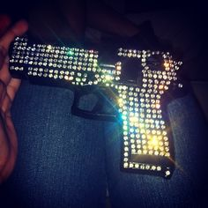 My guess is any intruder would rip this out of your hands and pistol whip said person for being so ridiculous! Unless you're a rapper...don't bling guns. :)