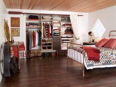 Cabin fever closet door ideas