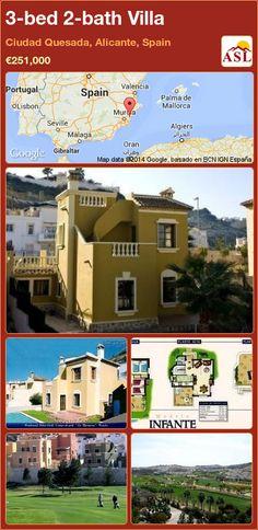3-bed 2-bath Villa in Ciudad Quesada, Alicante, Spain ►€251,000 #PropertyForSaleInSpain