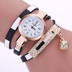 2016 New Fashion Women Watch PU Leather Bracelet Watch Casual Women Wristwatch Luxury Brand Quartz Watch Relogio Feminino Gift - cubic zirconia jewelry