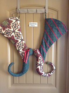 Items similar to Funky Toe Christmas Stocking on Etsy Christmas Centerpieces, Christmas Tree Decorations, Holiday Decor, Christmas Projects, Christmas Crafts, Christmas Ideas, Diy Christmas Ornaments, Christmas Holidays, Xmas Stockings