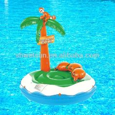#Inflatable island, #inflatable water floating island, #inflatable swimming pool float island