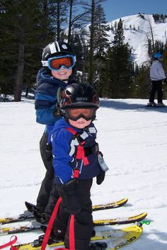 Teach your kids to ski... look at 'em smile!  #vailvalley