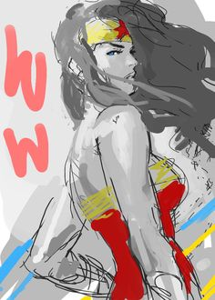 LOST MY PHONE WONDER WOMAN SKETCH by Kandoken