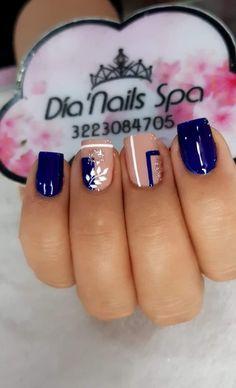 Beauty Nails, Hair Beauty, My Favorite Color, My Favorite Things, Blue Nail Designs, Almond Nails, Blue Nails, Nail Manicure, Nail Arts