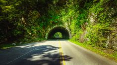 The tunnel on the way to Cades Cove in the Great Smoky Mountains National Park of Tennessee.