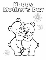 happy mothers day for bear coloring picture for kids mothers day pictures mothers day cards