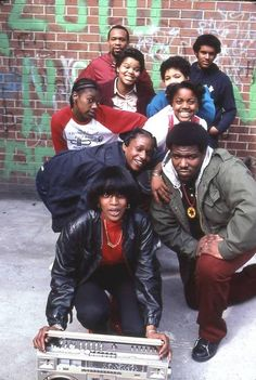 """theretrospectofhiphop:  Bambaataa and the crew, 1983.   "" *posted by Hip Hop Fusion"