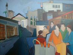 On the Town (44x57 oil painting on canvas)view more by Itzchak Tarkay