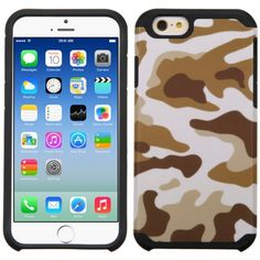 Insten Hard PC Silicone Dual Layer Hybrid Rubberized Matte Case for Apple iPhone 6/ 6s