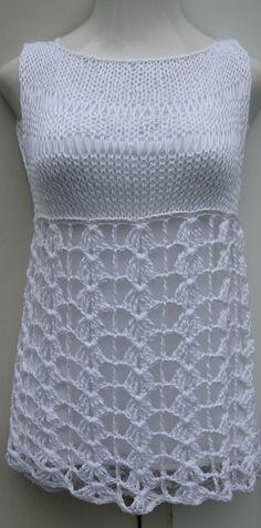 Crochet summer babydoll dress/top by Elegantcrochets on Etsy, $68.00