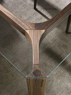 Young By pacini & cappellini, rectangular wood and glass table design Monica Bernasconi, Norberto Delfinetti