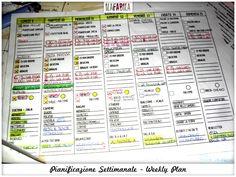Pianificazione Settimanale - Weekly Plan (Con file personalizzabile da scaricare)